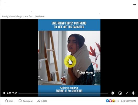 click Facebook Video